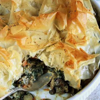 Phyllo-Crusted Vegetable Potpie