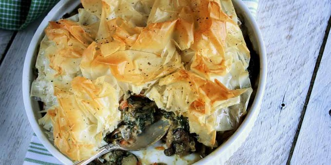 Phyllo-Crusted Vegetable Potpie Recipe | Yummly