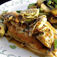 Braised Greek Chicken and Artichokes