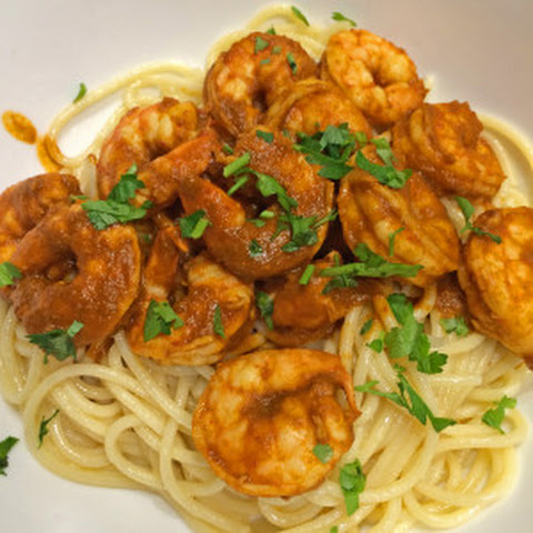 Shrimp Diablo on Pasta