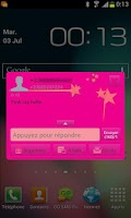 Screenshot of Go sms Pink girly star Theme