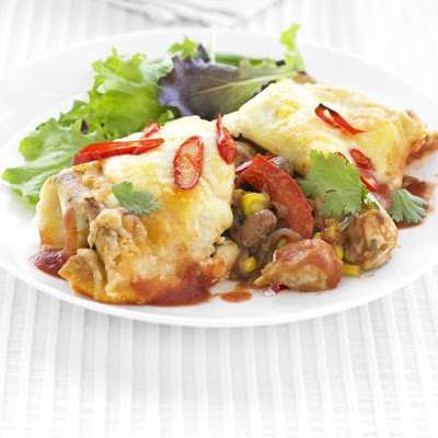Chicken & Bean Enchiladas