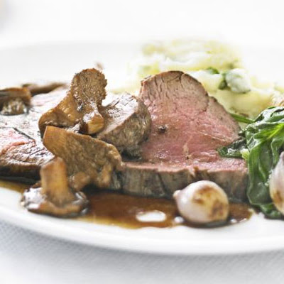 Seared Beef With Wild Mushrooms & Balsamic