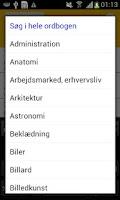 Screenshot of Danish Slang Dictionary