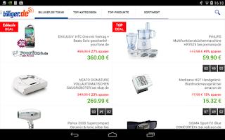 Screenshot of billiger.de Preisvergleich