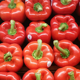 Pretty Peppers by Mary D'Alba - Food & Drink Fruits & Vegetables ( red peppers, peppers, red, vegetable, red vegetables,  )