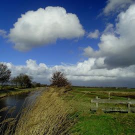 Typical Dutch weather. by Gert de Vos - Landscapes Cloud Formations
