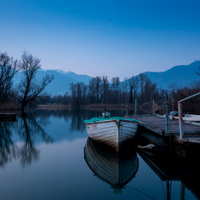 La tranquillità invernale by Sabina Lombardo-Salmina - Landscapes Waterscapes ( ticino, switerland, magadino, natural reserve, lago maggiore, bolle di magadino,  )