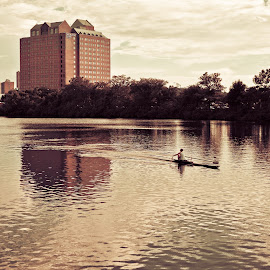 Skulling the Charles river by Alan Scherer - Sports & Fitness Watersports