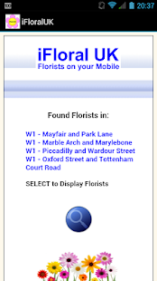 iFloral UK - Find a Florist - screenshot