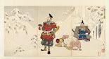 RIJKS: Tsukioka Yoshitoshi, Sasaki Toyokichi, Watanabe Yataro: print 1886