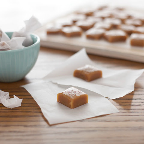 Bourbon and Honey Salted Caramels