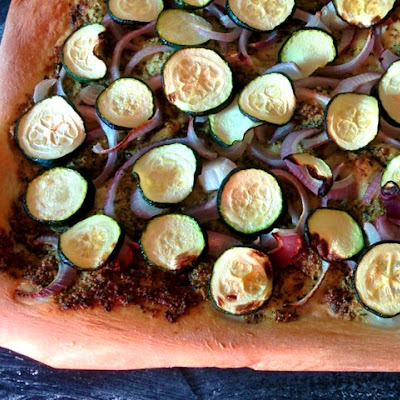 Pistacchio Courgette Pizza
