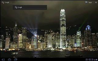 Screenshot of City Light Show Wallpaper