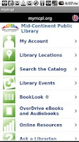 Screenshot of Mid-Continent Public Library