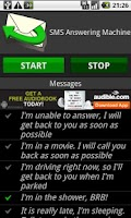 Screenshot of SMS Answering Machine Free