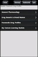 Screenshot of Paramedic Drug Quiz