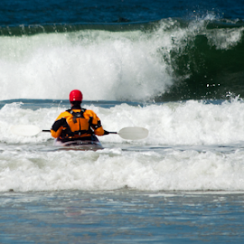 White Water Boater by Keith Sutherland - Sports & Fitness Other Sports ( wave, beach, boat, surf, kayak, paddle )
