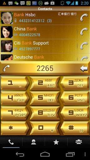 【免費通訊App】RocketDial Golden Theme 2nd-APP點子
