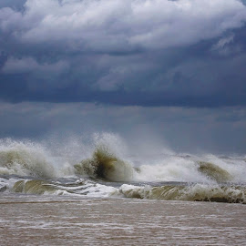 Wave of Symphony by Penny Deal - Landscapes Weather ( waves, gulf, tropical, power, ocean, orchestra, storm )