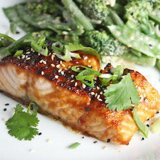 Broiled Salmon with Miso Glaze