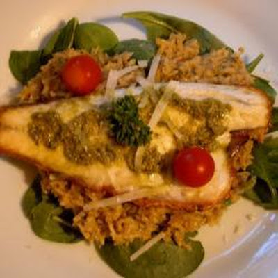 Sea Bass With Tomato And Herb Risotto