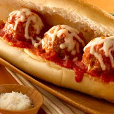 Quick Meatball Parmesan Hero