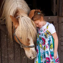 horse by Lucien Vandenbroucke - Babies & Children Child Portraits