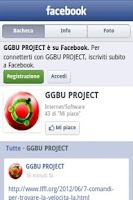 Screenshot of GGBU fanpage