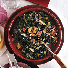 Swiss Chard with Raisins and Almonds