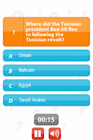 Screenshot of Arab Uprising - 100Q Quiz