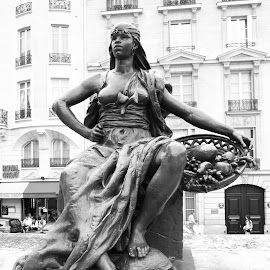 L'Afrique by Mike Coombes - Buildings & Architecture Statues & Monuments ( paris, statue, monochrome, black and white, france, musee d'orsay, africa )