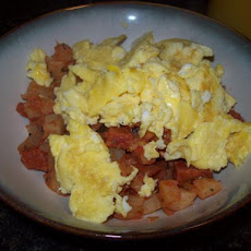 Tex-Mex Breakfast Hash and Eggs