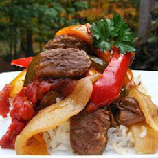 Slow Cooker Beef And Pepper Stew