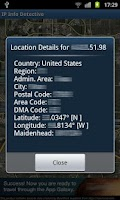 Screenshot of IP info Detective