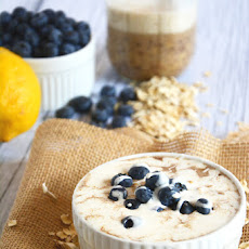 Overnight Blueberry Lemon Cheesecake Oats