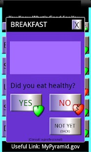 Yes No Diet Tracker FREE - screenshot