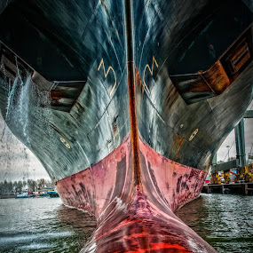 the nose by Frans Scherpenisse - Transportation Boats ( ship, harbour, boat, nose )