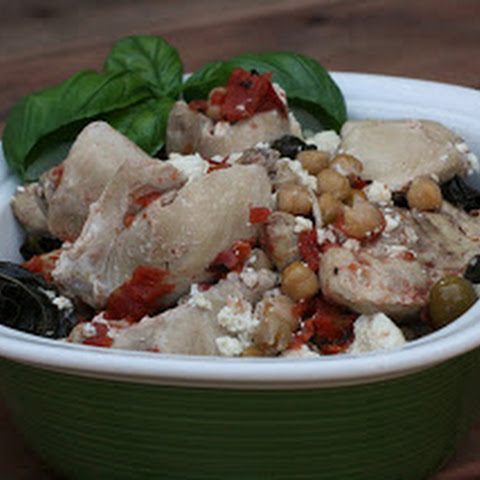 Basil Chicken with Feta Slow Cooker
