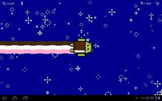 Screenshot of Nyan Droid Live Wallpaper