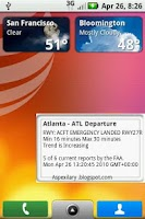 Screenshot of Air Traffic Control Status US