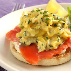 Egg and Smoked Salmon Open-Faced Breakfast Sandwich Recipe