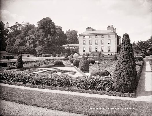 Formal gardens, Woodstock, Inistioge, Co. Kilkenny (LROY 4457). The gardens were devised on a grand scale by Colonel William Tighe and his wife Lady Louisa Lennox between 1840 and 1900