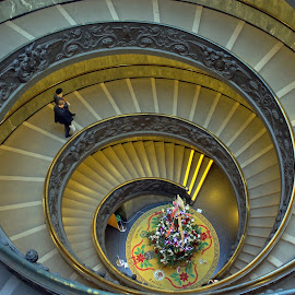 Spiral Staircase In Vatican Museum by Tony Murtagh - Buildings & Architecture Architectural Detail ( spiral staircase, rome, staircase, vatican, italy,  )