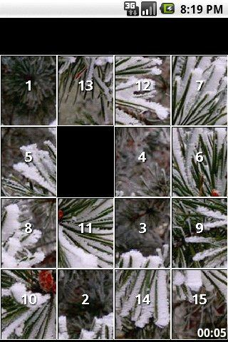 Winter Snow slide puzzles