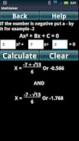 Screenshot of Math Algebra Solver Calculator
