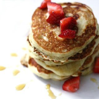 Strawberry Vanilla Bean Pancakes