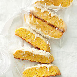 White Chocolate, Cornmeal, and Almond Mini Biscotti