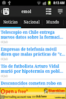Screenshot of Chile Noticias HD