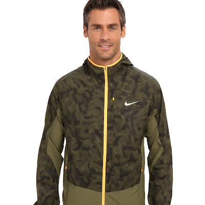 Nike - Printed Trail Kiger Jacket (Rough Green/Rough Green/Atomic Orange/Reflective Silver) - Apparel